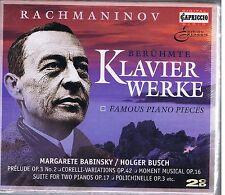 RACHMANINOV 2 CDS BOX SET NEW FAMOUS PIANO PIECES/ M. BABINSKY/ H. BUSCH
