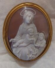Museum Quality Cameo Madonna and Child