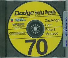 1970  DODGE CHALLENGER/DART SHOP/BODY  MANUAL ON CD