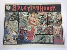 1990 two page video game ad ~ SPLATTERHOUSE