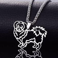 Stainless Steel Tibetan Spaniel Tibbies Simkhyi Pekingese Pet Dog Charm Pendant