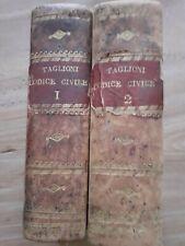Codice Civile di Napoleone il Grande delle leggi Romane Milano 1809 Vol.I-II