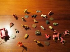 Lot of 24 Miniature Toys,Lockets and Animals + 5 Wheat Cents