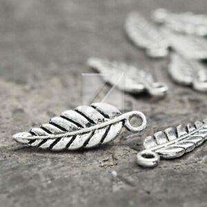 150pcs Tibetan Silver Charm Pendant Jewelry Finding Leaf 19.5x6.5x1.5 Wholesale
