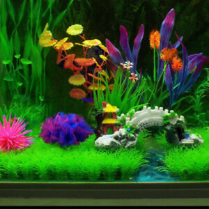 Artificial Green Water Grass Plant Long Leaf For Fish Tank Aquarium Decoration