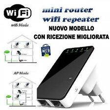 AMPLIFICATORE WIFI REPEATER 300 Mbps RIPETITORE WIFI RANGE EXTENDER LAN RETE