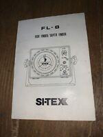 Vintage SI-TEX FL-8 Fish Depth Finder Freshwater Fishing Manual Only