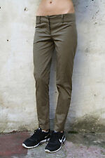 Patrizia Pepe Trousers Ladies Khaki Green Straight leg Stretch Pants 44 W30 UK12