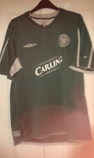 Mens Football Shirt - Celtic FC - Umbro - Away 2004-2005 - Green - Short Sleeve