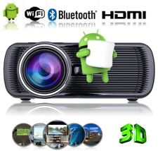 LED Video Projector Android6.0 Wifi 1080P 3200Lumens Mini Home Projector-BLACK
