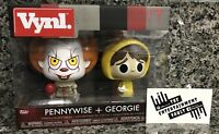"""NEW FUNKO VYNL IT THE MOVIE """"PENNYWISE + GEORGIE"""" COLLECTIBLE VINYL FIGURES"""