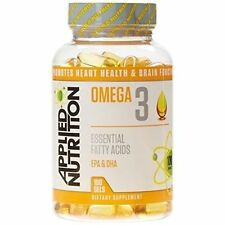 Applied Nutrition Omega 3 1000mg 100 Gels Fish Oil Halal 06/2019
