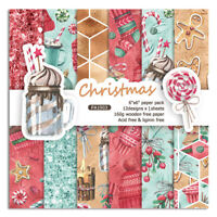 "12stk 6"" Christmas Paper Hintergrund DIY Scrapbooking Album Origami Card Bastel"