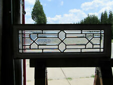 ~ ANTIQUE STAINED GLASS TRANSOM WINDOW FULLY BEVELED ~ 34 x 12 ~ SALVAGE