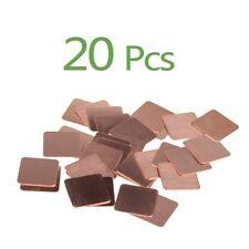 20Pcs Heatsink Copper Shim Thermal Pads 15mmx15mmx1mm  for Laptop CPU GPU VGA
