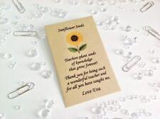 Personalised Teacher Nursery Teaching Assistant Leaving Gift Sunflower Seeds