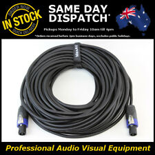 30 Metre 2 Core PA Speakon Male M-M OFC Speaker Jack Lead Link Cable Cord 30M