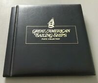 Great American Sailing Ships Binder w/ Description Cards ONLY EUC