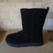 UGG Classic Short Black Waterproof Suede Sheepskin Boots Size US 8 Womens NIB