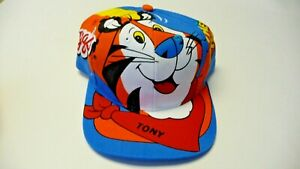 Vintage 1998 New Kellogg's Tony the Tiger snapback Great Frosted Flakes hat NWT
