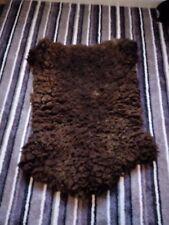 More details for antique black welsh mountain sheepskin/hide rug