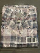 Victoria Secret Satin Plaid Pajama Set NEW Size Large
