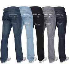 Kruze Herren Gerades Bein Jeans Regular Fit Denim-Hose Groß Hoch Alle Bundweiten