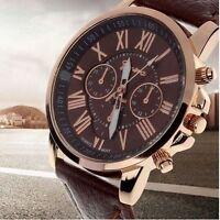 Leather Quartz Analog Wrist Watch For Elegant Women Ladies Perfect Gifts