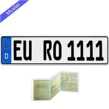 1 Stück EU KFZ Kennzeichen Nummernschild für PKW Anhänger Fahrradträger