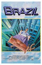 BRAZIL (1985) ORIGINAL INTERNATIONAL MOVIE POSTER  -  TRI-FOLDED