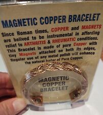 Magnetic Copper Bracelet Healing Bio Therapy Tibetan Pain Relief Bangle Cuff