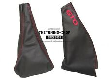 FOR MITSUBISHI GTO 3000GT 90-01 GEAR HANDBRAKE GAITER LEATHER RED GTO EMBROIDERY