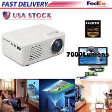 Multimedia 7000 Lumens HD WiFi bluetooth 3D 4K LED Cinema Theater Projector USA