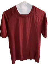 Lululemon Short Sleeve Crew Athletic Shirt Mens Small Burgundy