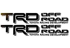 2 TOYOTA RACING TRD TRUCK OFF ROAD 4x4 TUNDRA TACOMA DECAL SUV STICKER 14 COLORS