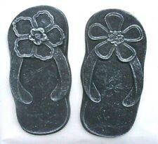 "Footprint plastic molds 9"" x 4.5"" x 1/2"" thick flower feet moulds"