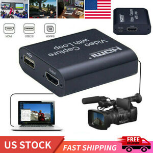 USB HDMI Video Digtal Capture Card 1080P Game Recorder Live Streaming Loop Out