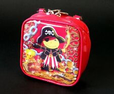 Pylones of Paris ~ Fun Zippered Multi-Pocket Purse ~ PIRATE ~ Pre-owned Like New