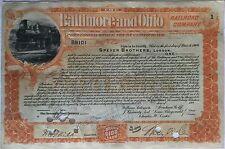 The Baltimore and Ohio Railroad Company 1899 (1 Share Preferred)