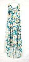Ava & Viv Women's Plus 3X Floral Print High-Low Tie Back Dress Multicolored