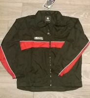 "Mens black red PROSTAR training jacket windbreaker Size Small chest 34""/36"" NEW"