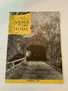 September 1947 News From Home Magazine Horse Issue By Home Fleet Insurance Co