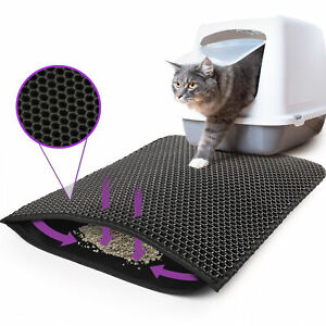 Kitty Cat Litter Mat Trapping Honeycomb Double Layer Design Waterproof 24x15''