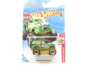 Hotwheels Monster Dairy Livraison 76/365 2018 Long Carte 1 64 Echelle Scellé