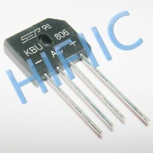 5PCS KBU806 8.0A BRIDGE RECTIFIER ZIP4