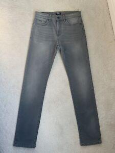 Men's Hugo Boss Delaware Grey Slim Stretch Jeans W30 L32 (D89)