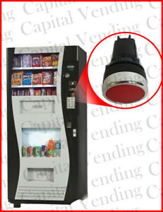 GENESIS GO 380 COMBO VENDING MACHINE COIN RETURN BUTTON RED NEW