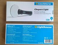 Randlose Leuchtlupe, Lupe Choparz Light, LED, 2,5-fach  OVP