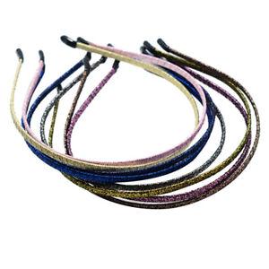 10pz Fascia per Capelli In Metallo Cerchietto Headband Acconciatura Donna DIY