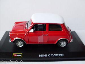 Mini Cooper Rouge + Vitrine, Bburago Rue Classics 1:3 2